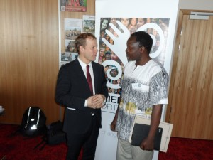 Photo with the Norwegian Minister of Development