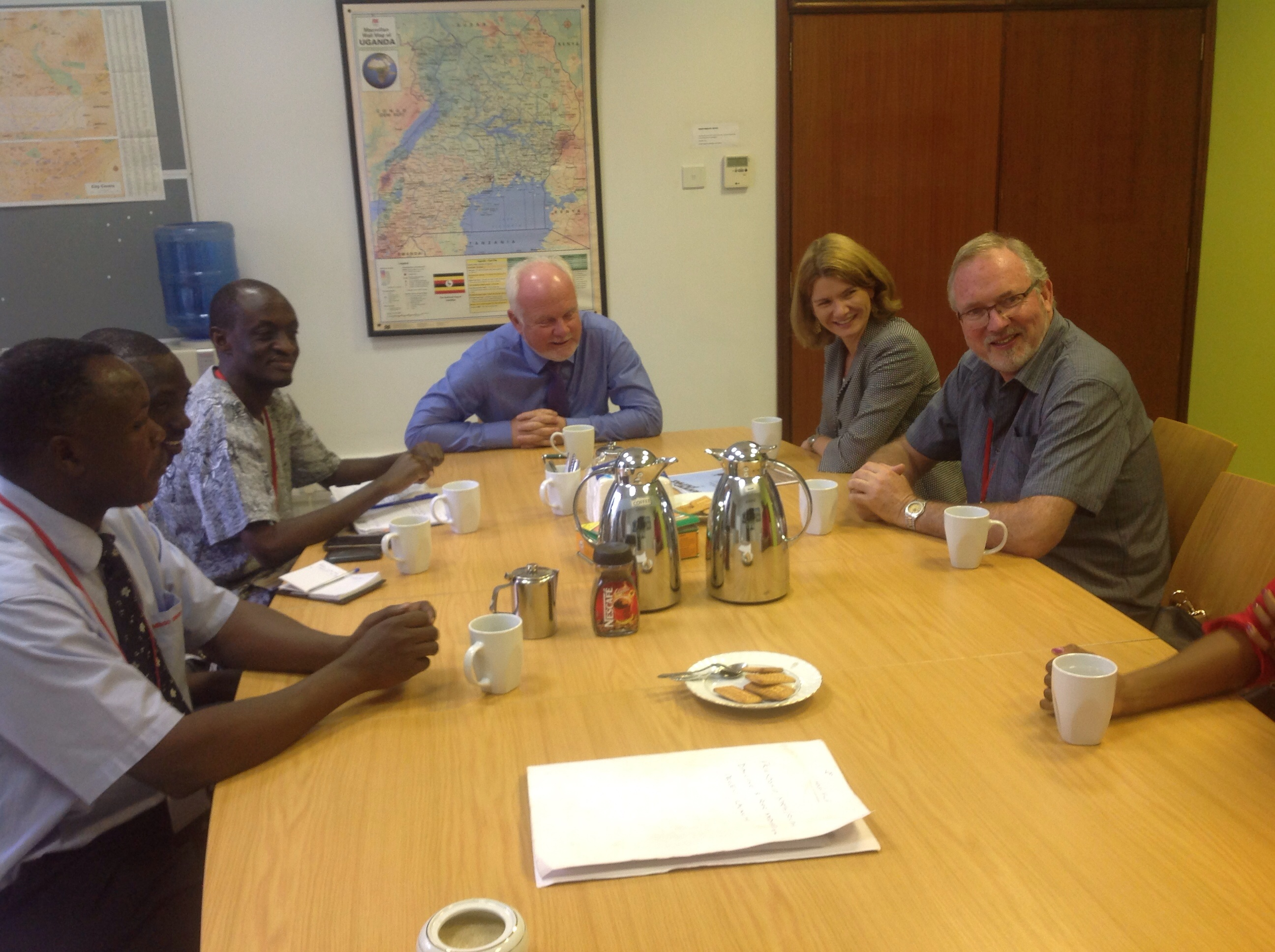 Meeting with the Norwegian ambassador to Uganda